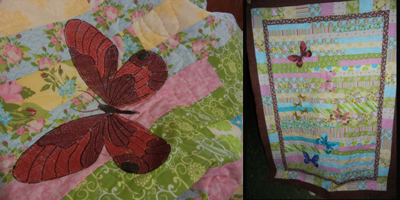 My 'butterfly' quilt